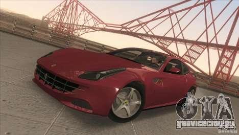 Ferrari FF 2011 V1.0 для GTA San Andreas вид изнутри
