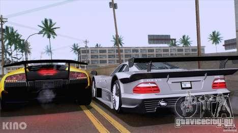 Mercedes-Benz CLK GTR Road Carbon Spoiler для GTA San Andreas вид сзади