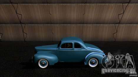 Ford Deluxe Coupe 1940 для GTA San Andreas вид слева