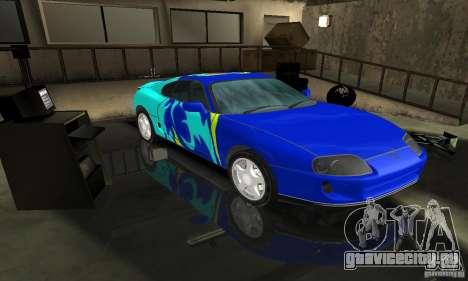 Toyota Supra Tuneable для GTA San Andreas вид сзади