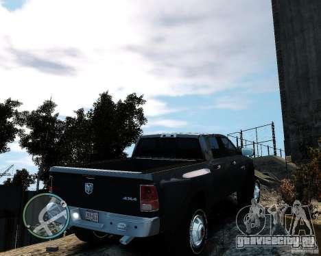 Dodge Ram 3500 Stock для GTA 4 вид сзади слева