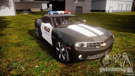 Chevrolet Camaro Police (Beta) для GTA 4 вид сзади