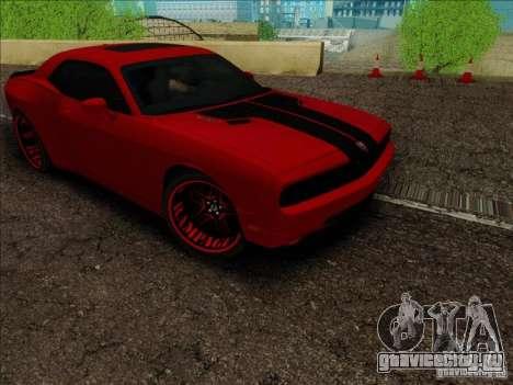 Dodge Quinton Rampage Jackson Challenger SRT8 v1 для GTA San Andreas вид сзади