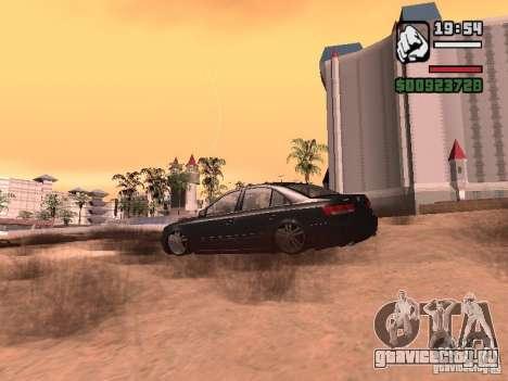 Hyundai Sonata Edit для GTA San Andreas вид сзади слева