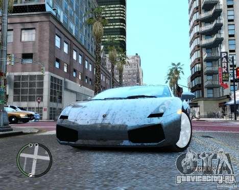 Lamborghini Gallardo 2005 для GTA 4 вид изнутри