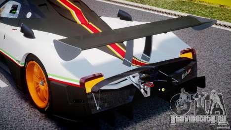 Pagani Zonda R 2009 Italian Stripes для GTA 4 вид снизу