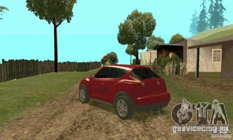 Nissan Juke для GTA San Andreas вид сзади слева