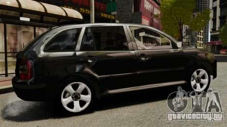 Skoda Fabia Combi Unmarked ELS для GTA 4 вид слева