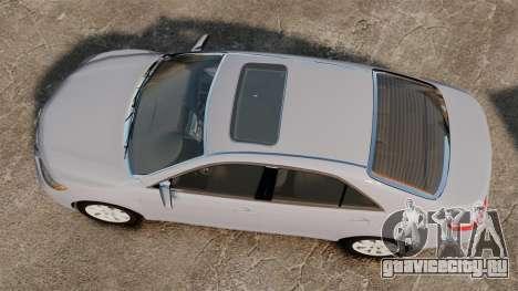 Toyota Camry Altise 2009 для GTA 4 вид справа