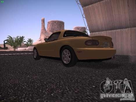 Mazda MX-5 1997 для GTA San Andreas вид сзади слева