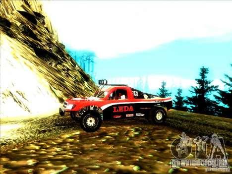 Toyota Tundra Rally для GTA San Andreas вид сзади слева