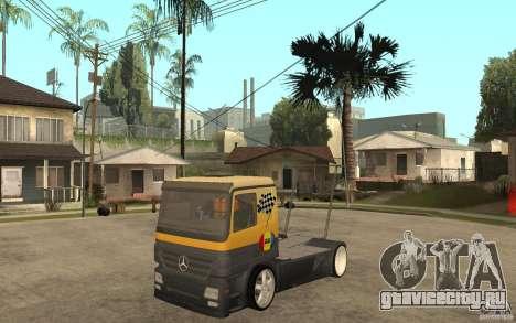 Mercedes Benz Actros Dragster для GTA San Andreas