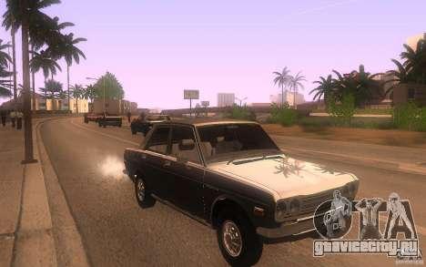 Datsun 510 4doors для GTA San Andreas вид сзади
