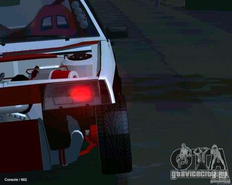 ВАЗ 2108 Драговая для GTA San Andreas вид сверху