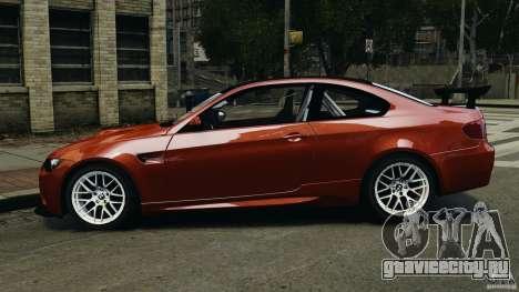BMW M3 GTS 2010 для GTA 4 вид слева