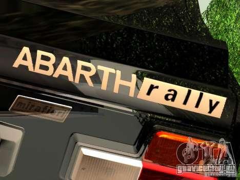 Fiat 131 Abarth Rally для GTA San Andreas вид сзади слева