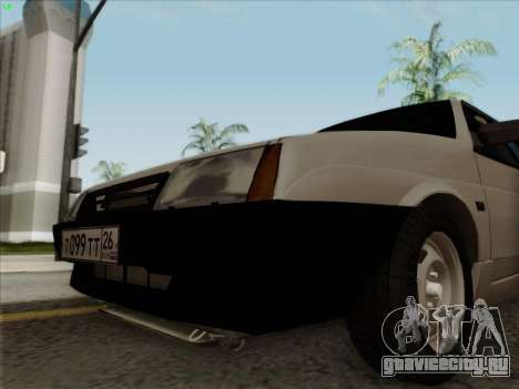 ВАЗ 21099 Сток для GTA San Andreas вид сзади слева