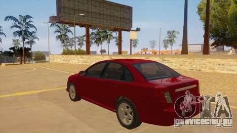 Buick Excelle для GTA San Andreas вид сзади слева