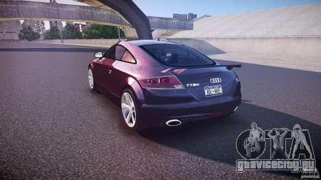 Audi TT RS v3.0 2010 для GTA 4 вид сзади слева