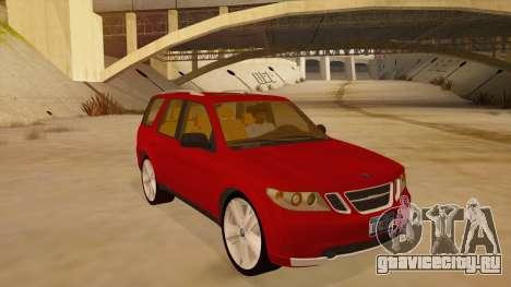 Saab 9-7X для GTA San Andreas вид сзади
