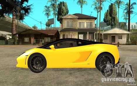 Lamborghini Gallardo LP560 Bicolore для GTA San Andreas вид слева