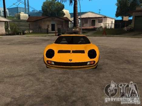 Lamborghini Miura для GTA San Andreas вид сзади