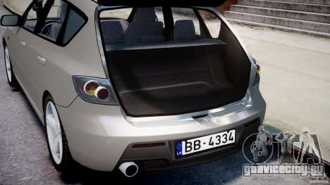 Mazda 3 2004 для GTA 4 вид снизу