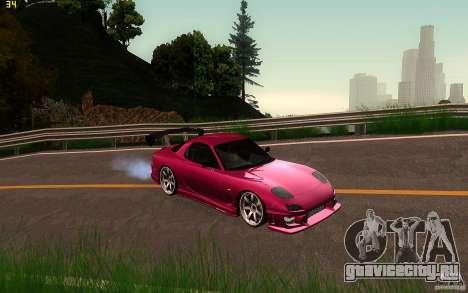 Mazda Rx7 C-West для GTA San Andreas вид сзади
