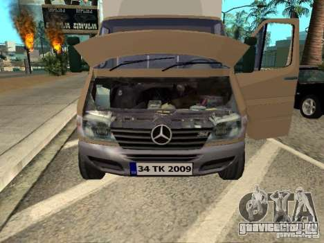 Mercedes-Benz Sprinter для GTA San Andreas вид справа
