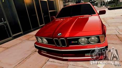 BMW M6 1985 Tuning Final для GTA 4 вид сзади слева