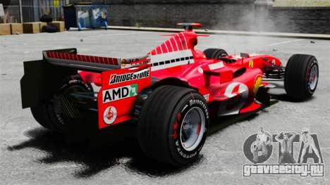 Ferrari F2005 для GTA 4 вид сзади слева