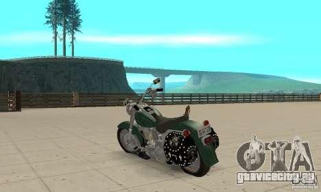 Harley Davidson FLSTF (Fat Boy) v2.0 Skin 1 для GTA San Andreas вид сзади слева