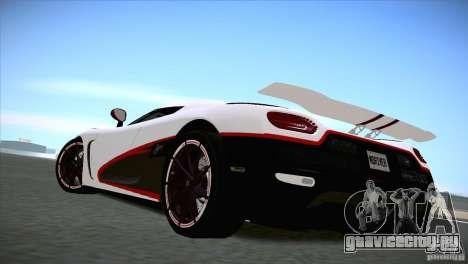 Koenigsegg Agera R 2012 для GTA San Andreas вид справа