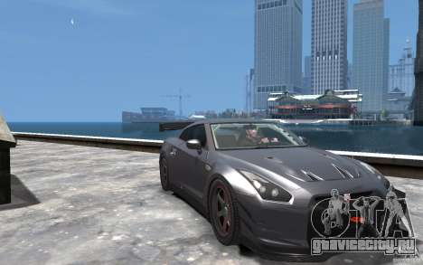 Nissan GT-R v1.1 Tuned для GTA 4 вид сзади