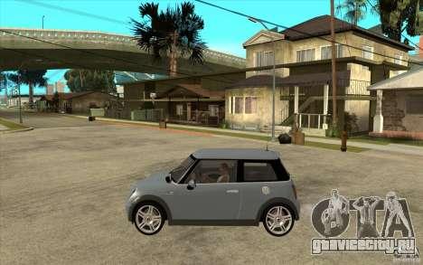 Mini Cooper - Stock для GTA San Andreas вид слева