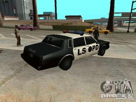 Tahoma Police для GTA San Andreas вид слева