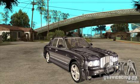 Bentley Arnage T для GTA San Andreas вид изнутри