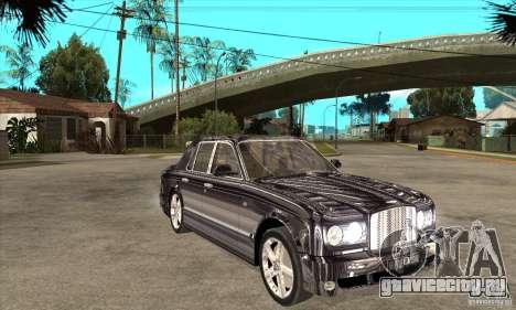 Bentley Arnage T для GTA San Andreas вид изнутри