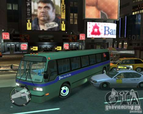MTA NYC bus для GTA 4 вид справа