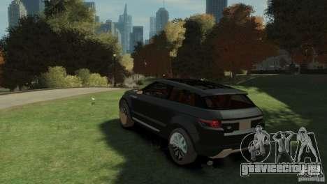 Land Rover Rang Rover LRX Concept для GTA 4 вид слева