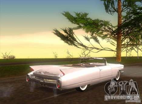 Cadillac Series 62 1960 для GTA San Andreas вид сзади слева