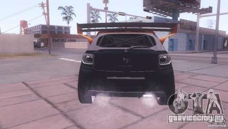 Citroen DS3 Tuning для GTA San Andreas вид изнутри