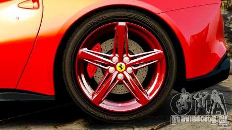 Ferrari F12 Berlinetta 2013 для GTA 4 вид изнутри