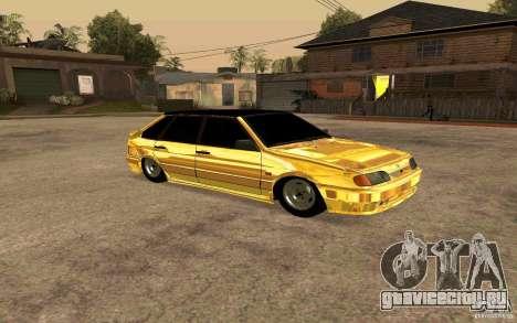 ВАЗ 2114 GOLD для GTA San Andreas вид слева