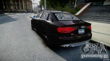 Audi S4 Unmarked [ELS] для GTA 4 вид сзади слева