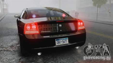 Dodge Charger RT Hemi FBI 2007 для GTA 4 вид сбоку