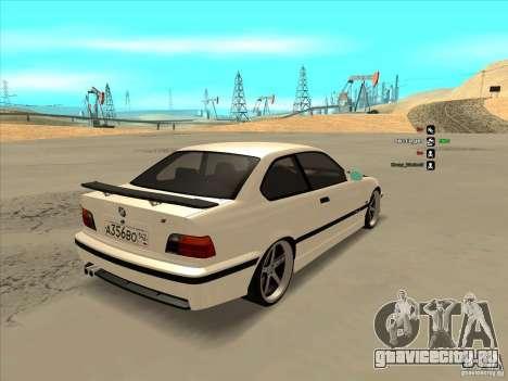 BMW M3 E36 для GTA San Andreas вид сзади