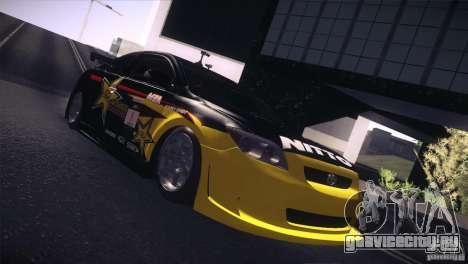 Scion TC Rockstar Team Drift для GTA San Andreas вид сзади слева