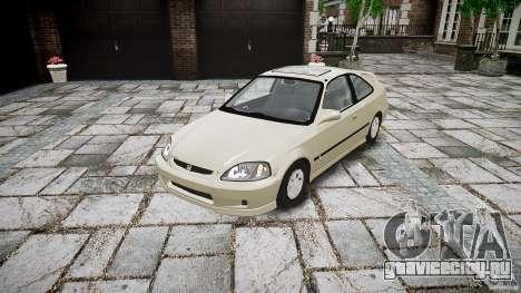 Honda Civic Coupe для GTA 4 вид сзади