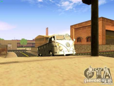 Volkswagen Type 2 Single Cab Rat для GTA San Andreas вид изнутри